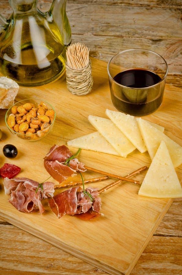 Mediterrane snacks stock foto