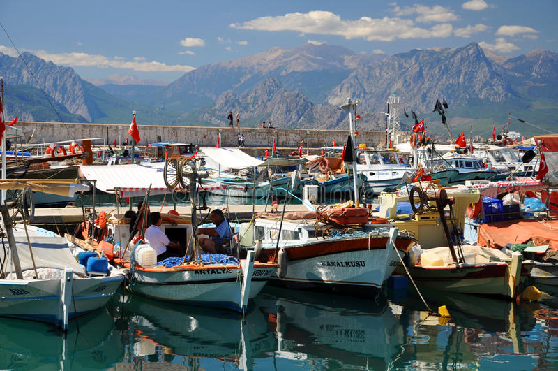 Mediterrane vissers stock foto