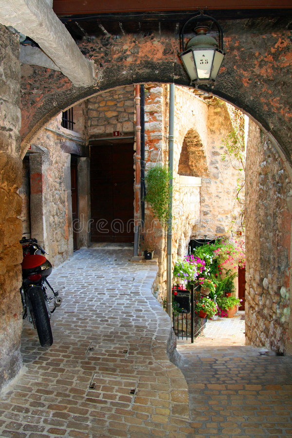 Mediterranean arch royalty free stock photo