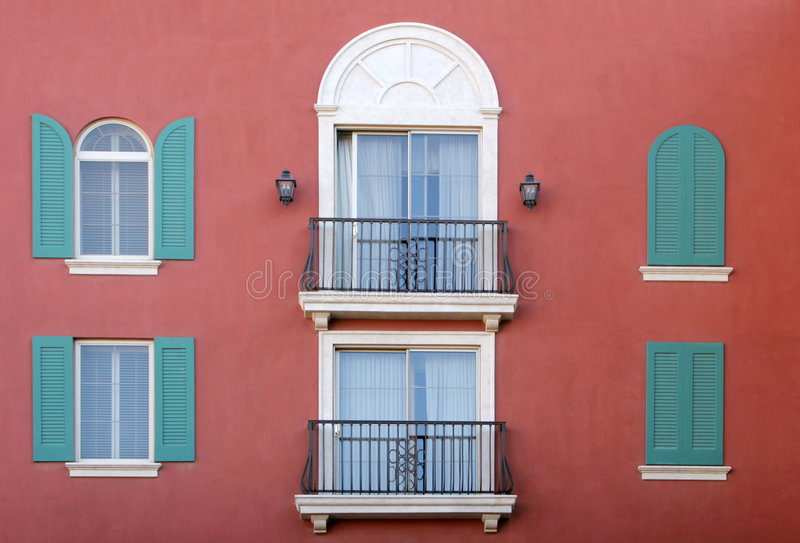 Mediterranean architecture royalty free stock photos