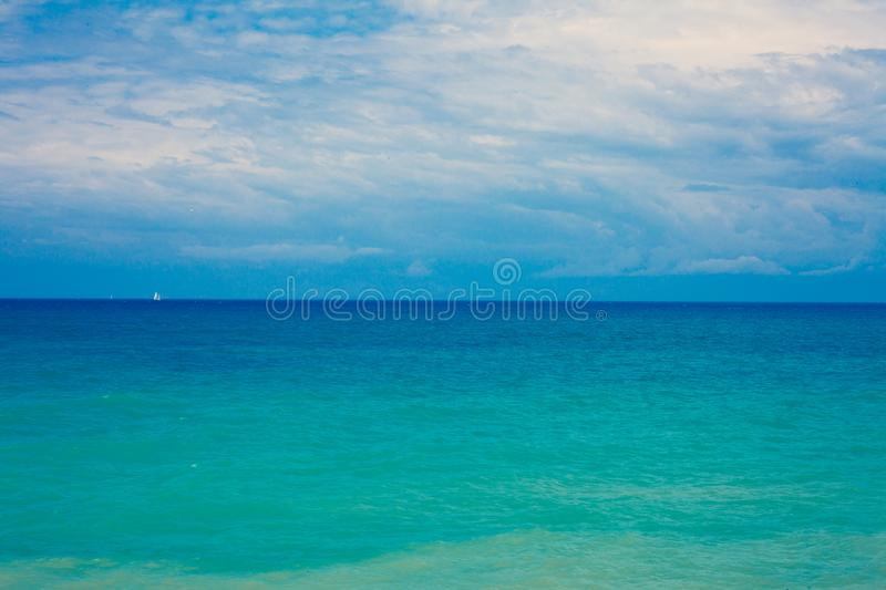 Mediterranean Beautiful Waves. Gorgeos and admirable Blue Ocean. Wonderful Scenic Sky. Cool Surfing Landscape. Amazing Color Shot. Mediterranean astonishing stock photos