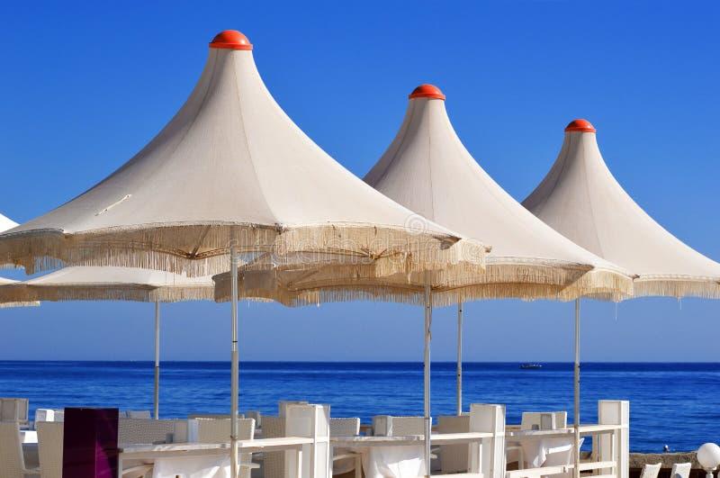 Mediterranean Beach During Hot Summer Day Stock Photo