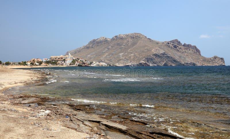 Mediterranean coast near Aguilas, Spain stock images