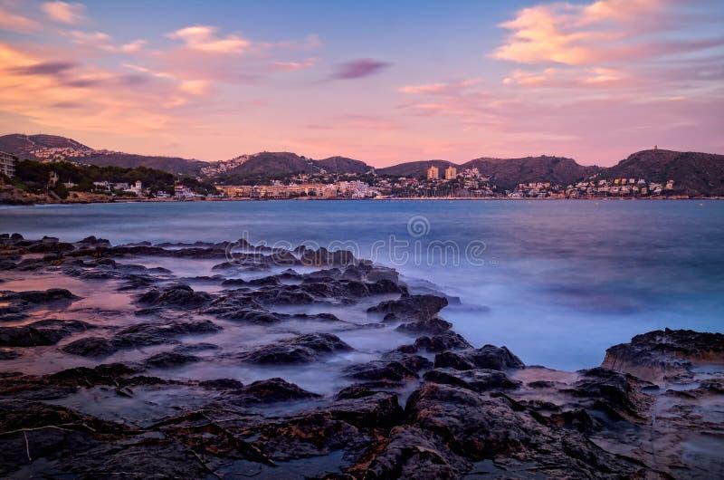 Download Mediterranean Coast At Sunset Stock Image - Image: 25145975