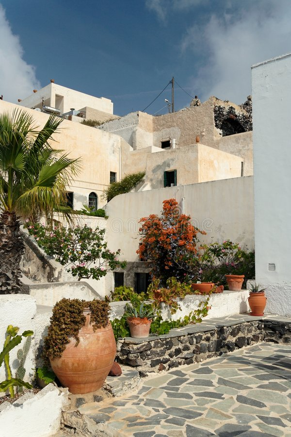 Download Mediterranean Courtyard stock image. Image of apartment - 2551893