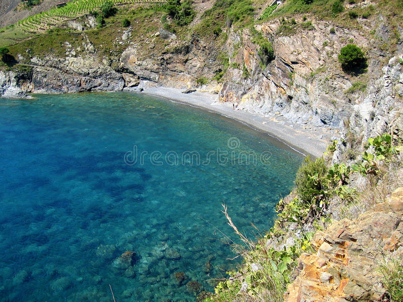 Mediterranean Cove In Vermilion Coast Royalty Free Stock Image