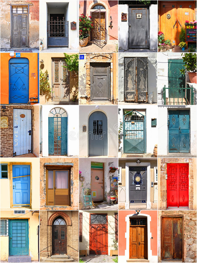 Download Mediterranean doors stock photo. Image of design, background - 33809526