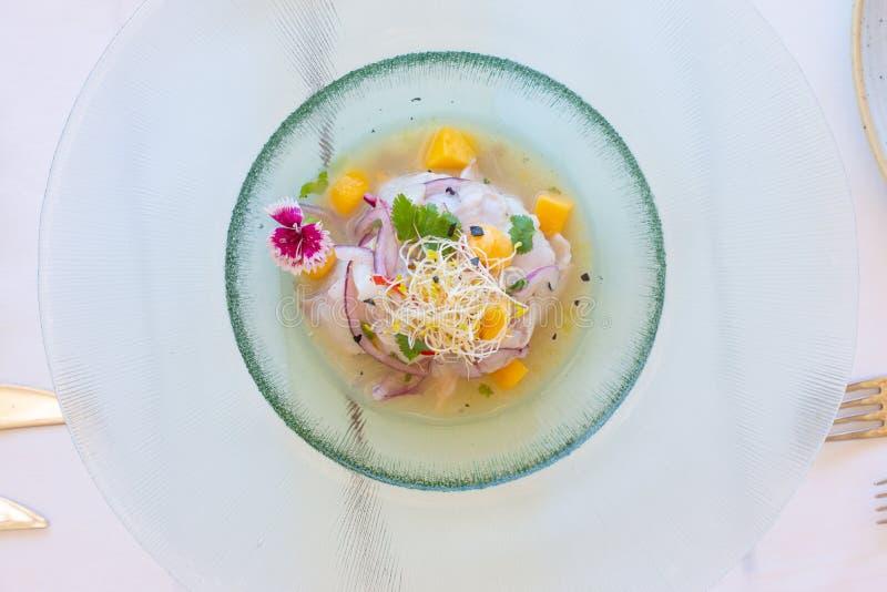 Mediterranean Fish Dish  stock image