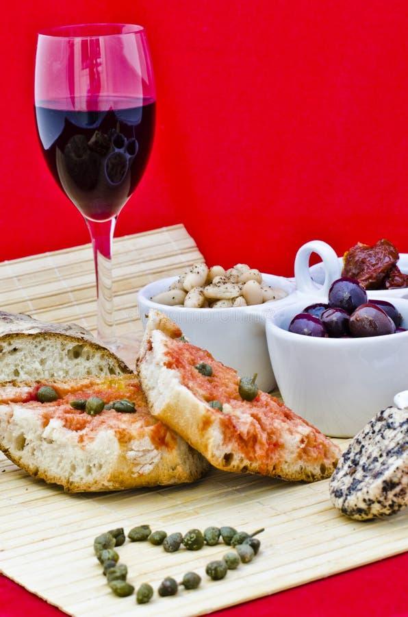 Healthy eating in Mediterranean royalty free stock photos