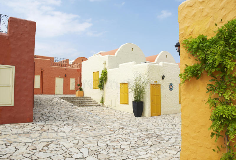 Download Mediterranean houses stock image. Image of greek, coastal - 14790593