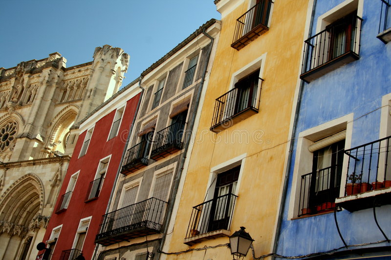 Mediterranean houses royalty free stock photography