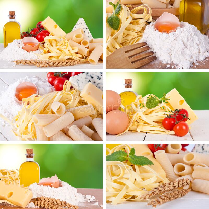 mediterranean italian food stock image