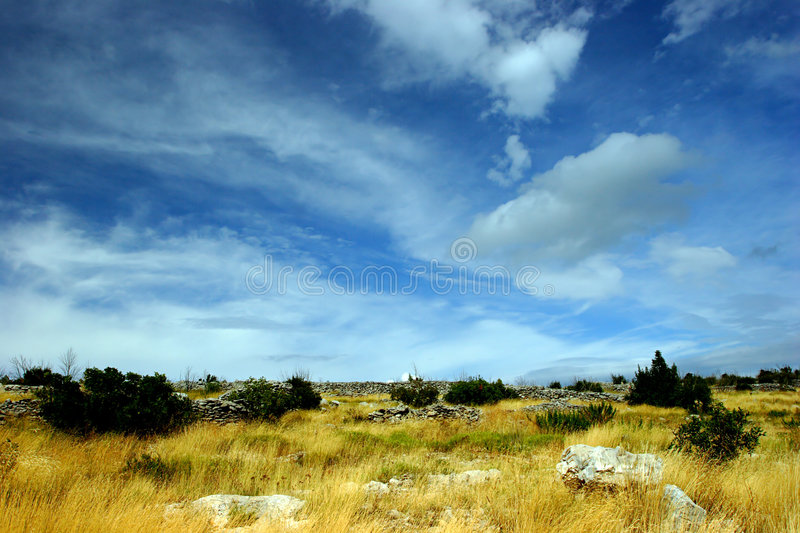 Mediterranean landscape. On a summer day stock photo