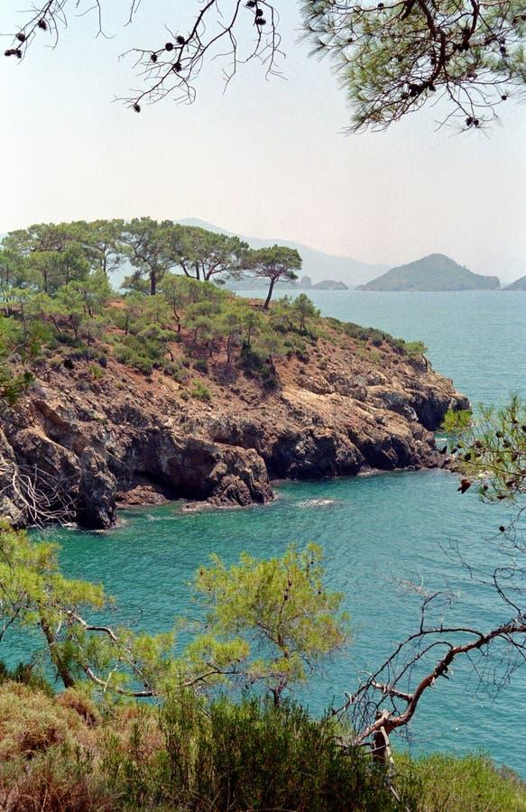 Mediterranean landscape. Near Fethiye, Turkey royalty free stock photography