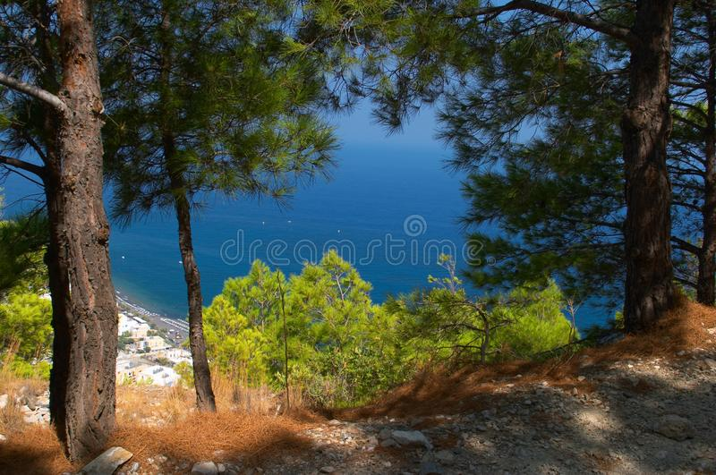 Mediterranean landscape Greece royalty free stock images