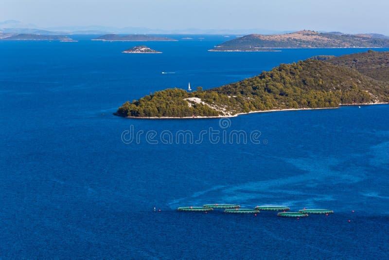Mediterranean landscape - island Dugi otok stock images
