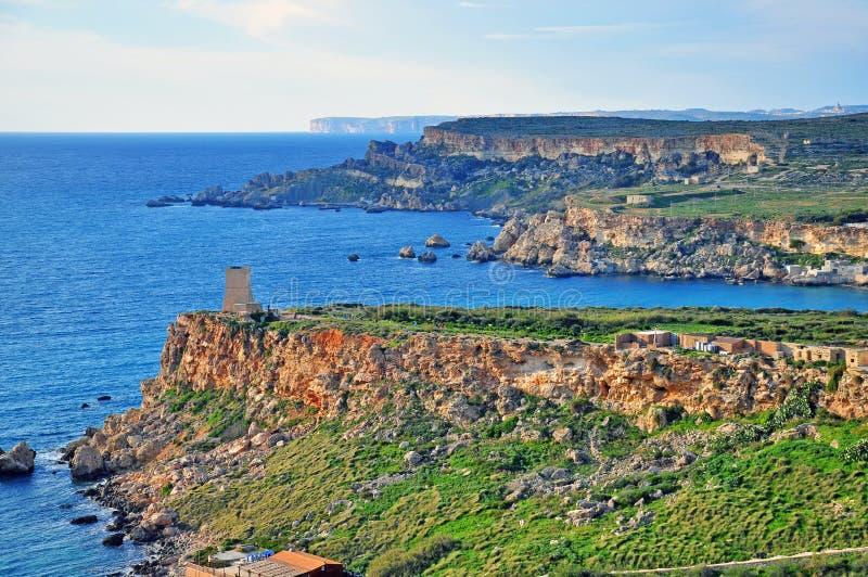 Mediterranean Landscape In Malta Stock Photo