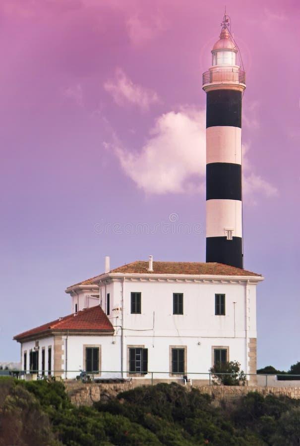 Mediterranean Lighthouse stock photography