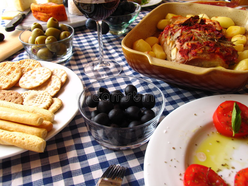 Mediterranean meal royalty free stock photography
