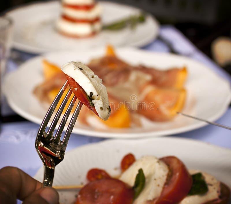 Mediterranean meal stock photos