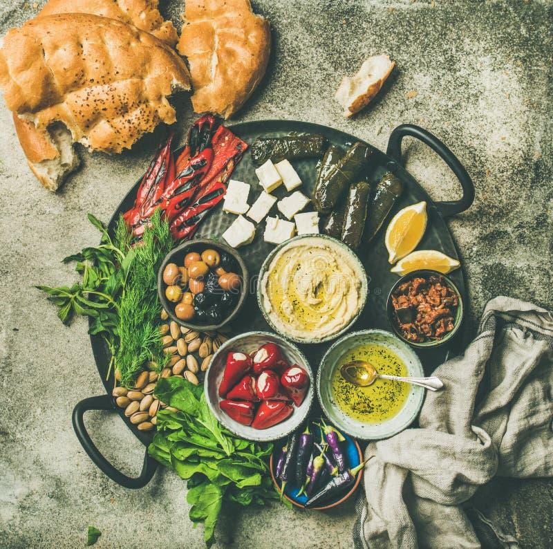 Free Mediterranean Meze Starter Platter Stock Images - 111062344