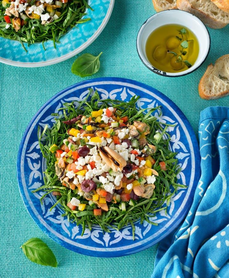 Mediterranean Mussel Salad stock image