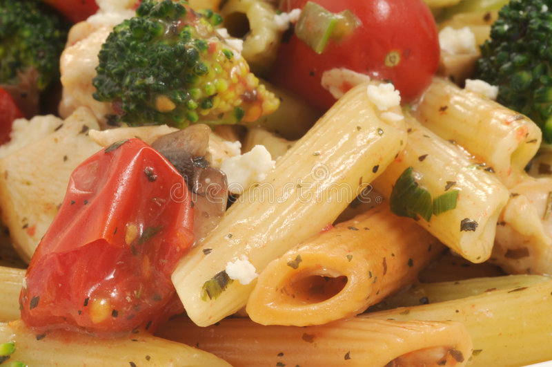 Mediterranean Pasta stock photography