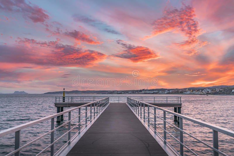 Mediterranean Pier stock photography