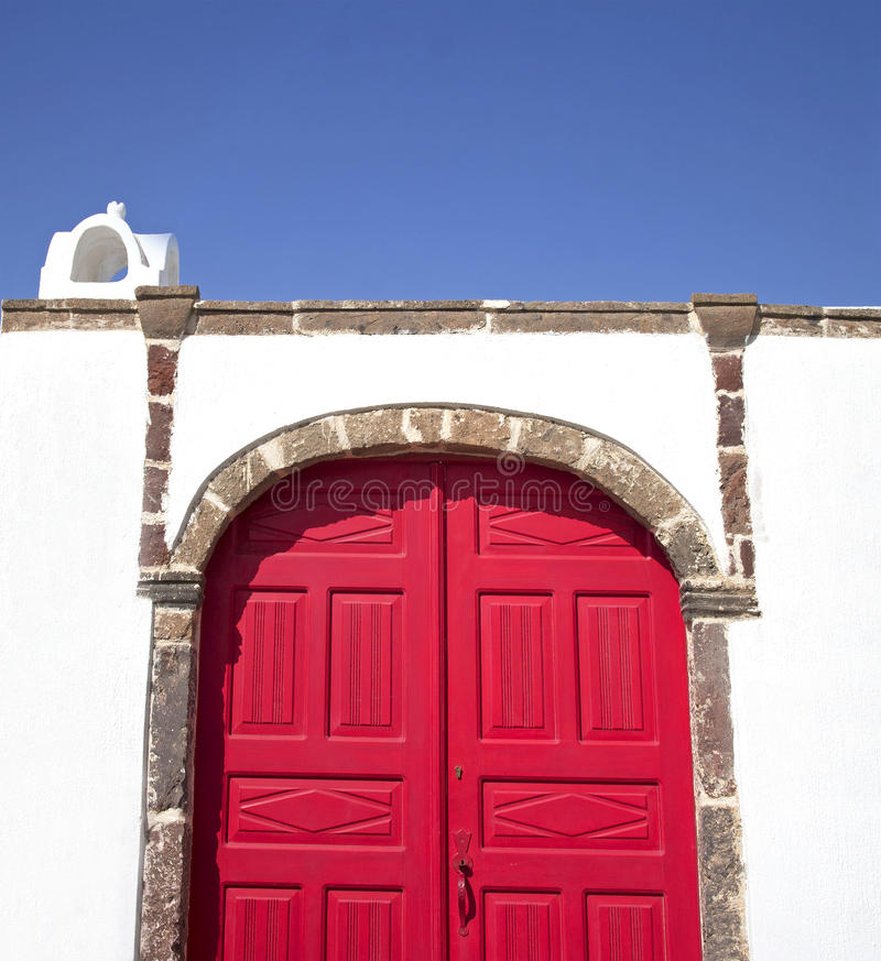 Download Mediterranean red doors stock photo. Image of cyclades - 34023766