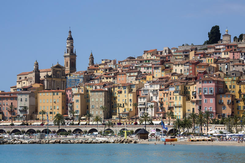 Download Mediterranean Resort Of Menton - French Riviera Stock Photo - Image: 26688200