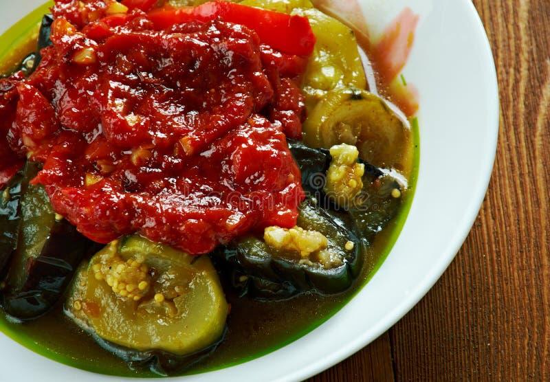 Mediterranean Roast Veggies. Briam.Cypriot cuisine royalty free stock photo
