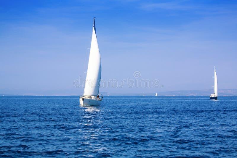 Mediterranean sailing stock photos