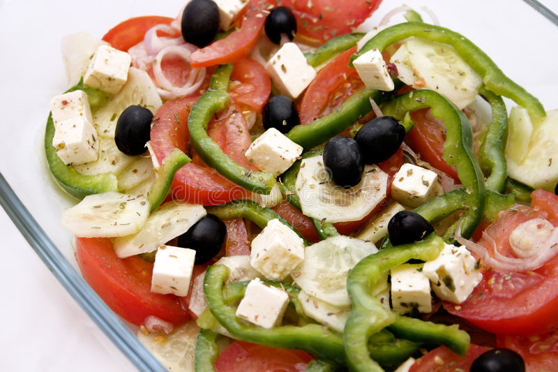 Mediterranean salad royalty free stock photography