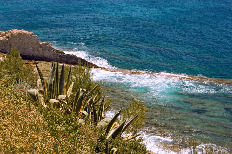 Download The Mediterranean Sea stock image. Image of beach, mountain - 15923681