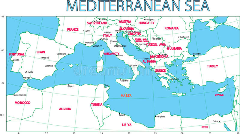 Mediterranean sea. royalty free illustration