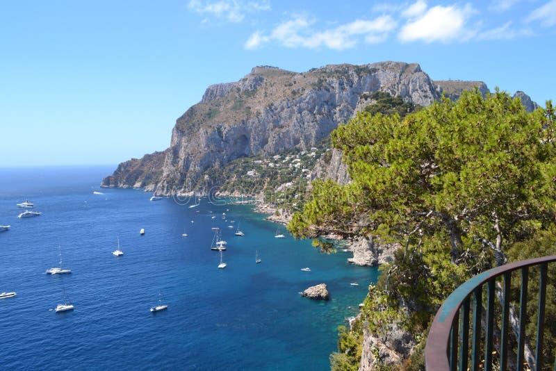 Mediterranean sea,Capri `s sea royalty free stock photography