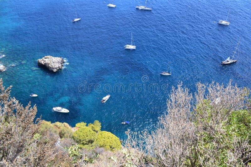 Mediterranean sea,Capri `s sea royalty free stock image