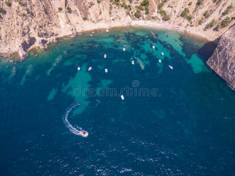 Mediterranean sea coast. Spain, Costa Blanca stock image