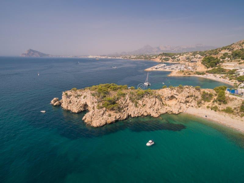 Mediterranean sea coast. Spain, Costa Blanca royalty free stock image