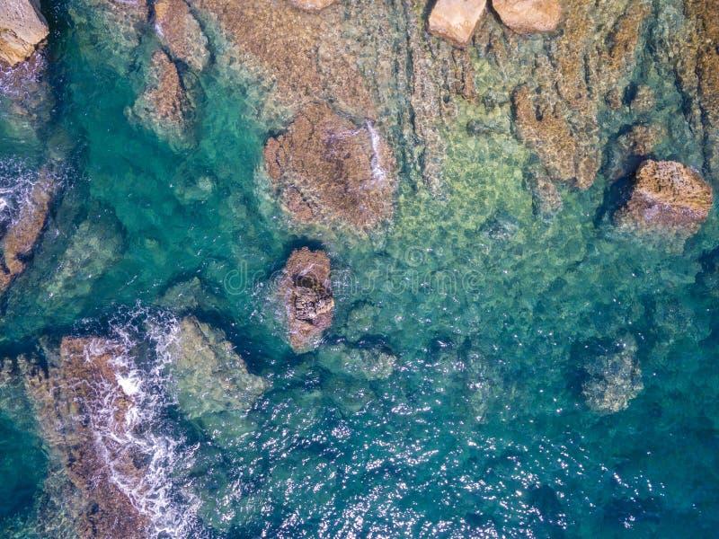 Mediterranean sea. Coast Spain, Costa Blanca royalty free stock image