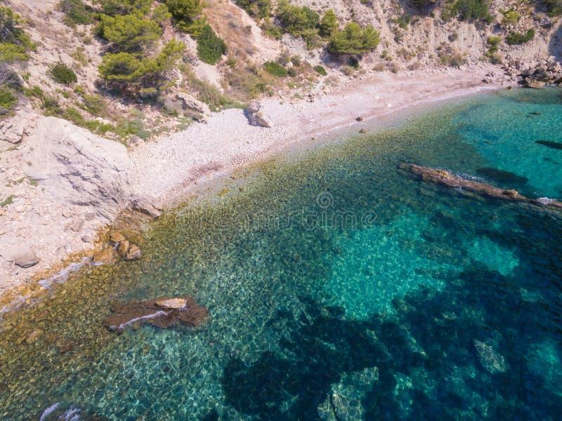 Mediterranean sea. Coast Spain, Costa Blanca royalty free stock photos