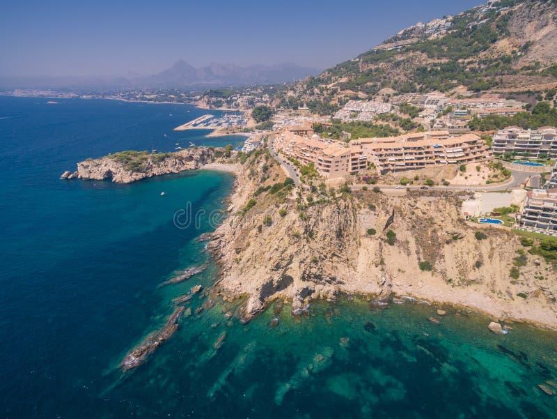 Mediterranean sea coast. Spain, Costa Blanca stock photos