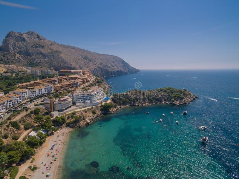 Mediterranean sea coast. Spain, Costa Blanca stock photography