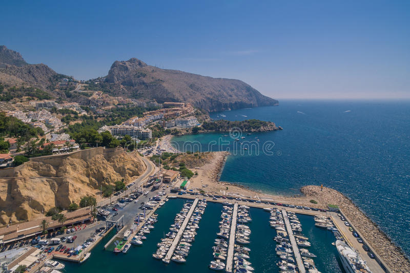 Mediterranean sea coast. Spain, Costa Blanca royalty free stock images