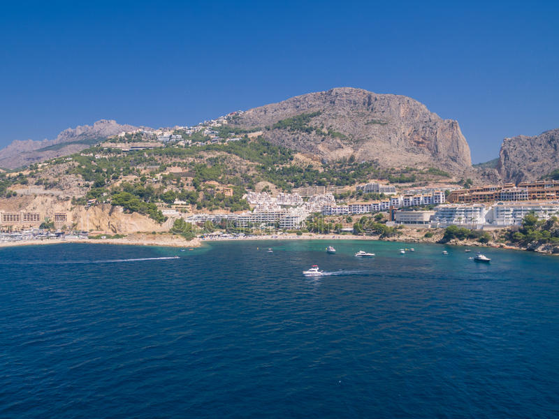 Mediterranean sea coast. Spain, Costa Blanca royalty free stock photo