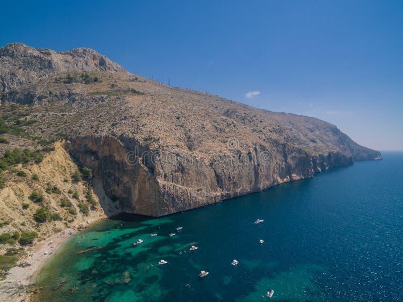 Mediterranean sea coast Spain. Costa Blanca, Morro de Toix royalty free stock images