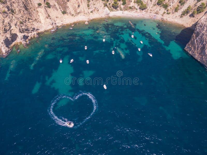 Travel lovers concept. Mediterranean sea coast Spain, Costa Blanca stock photography