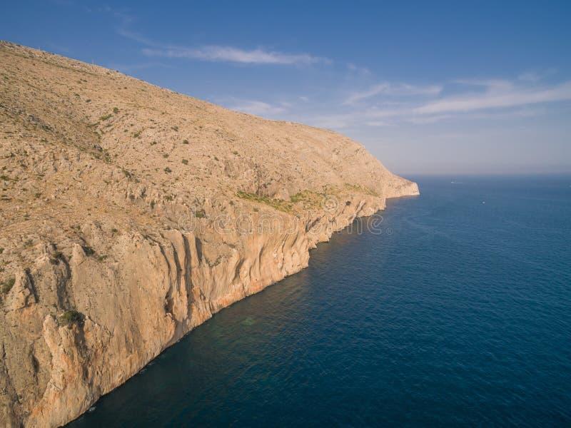 Mediterranean sea coast Spain. Costa Blanca, Morro de Toix stock photo