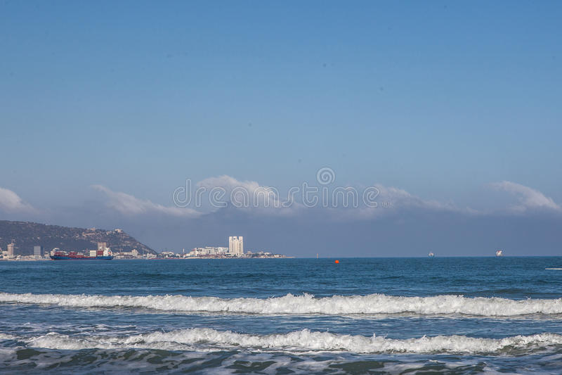 Mediterranean Sea Haifa Israel royalty free stock photo