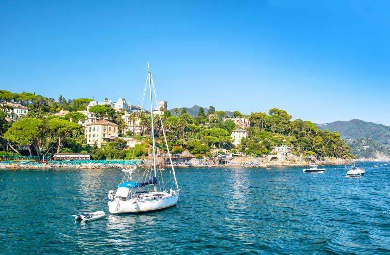 Mediterranean sea landscape blue sky italian riviera stock images